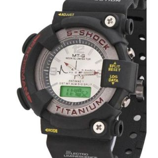 NEW MTG Analog-Digital Black Silicone Watch - Men