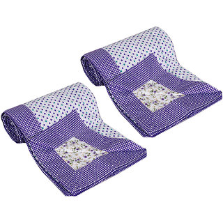 IndiWeaves Cotton  Dohar/Ac Blanket  set for Single Bed (2 pieces)-Multicolor (90726-SB)