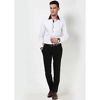 Dazzio Men's White Smart Casual Shirt - Option 16