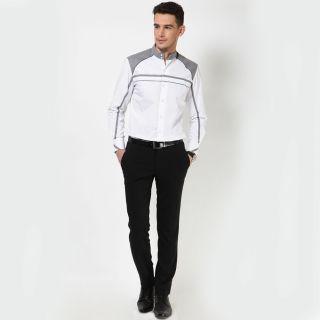 Dazzio Men's White Smart Casual Shirt