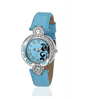 Yepme Round Dial Blue Synthetic Strap Women Quartz Watch