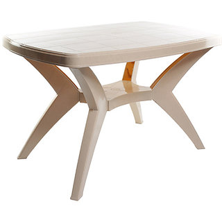 cello plastic durable dining table available at shopclues