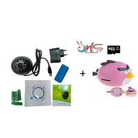 Ants Combo ( Dome Digital Video Recorder CCTV Camera + Angry Bird MP3 Player + 8GB Micro SD Card Free- AT-DM-ANGRY-594 )