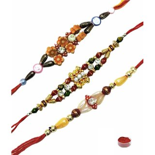 Traditional Rakhi Set of 3