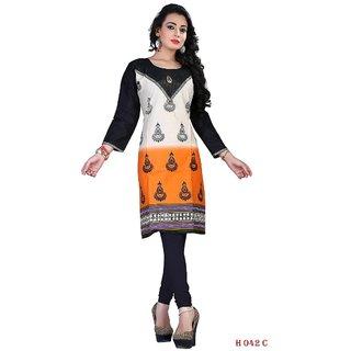 Multi Designer Ready To Wear Stitched Cotton Kurti With Legging