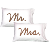 Mr. Mrs.- Pillowcovers- Daily Greetings - Gifts-Set Of 2 Pcs