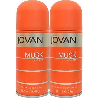 Jovan Musk Deodorant Spray (Pack Of 2) Body Mist - For Men (300 Ml)
