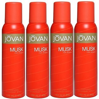 Jovan Live It ComboS In Deo The Pure Musk Body Spray - For Girls Women (600 Ml)