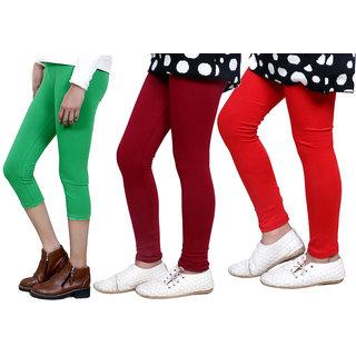 IndiWeaves Girls Cotton Legging with Cotton Capri 718017140004-IW