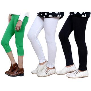 IndiWeaves Girls Cotton Legging with Cotton Capri 718017140305-IW