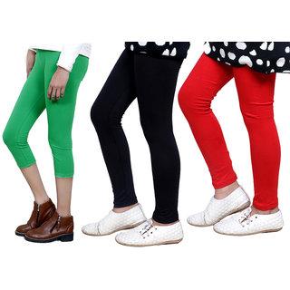 IndiWeaves Girls Cotton Legging with Cotton Capri 718017140504-IW