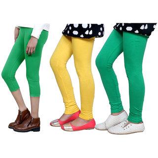 IndiWeaves Girls Cotton Legging with Cotton Capri 718017140607-IW