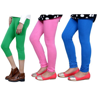 IndiWeaves Girls Cotton Legging with Cotton Capri 718017140809-IW