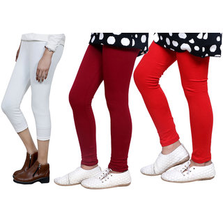 IndiWeaves Girls Cotton Legging with Cotton Capri 718027140004-IW