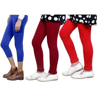 IndiWeaves Girls Cotton Legging with Cotton Capri 718067140004-IW