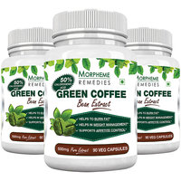 Morpheme Green Coffee Bean Extract 500mg - 90 Veg Caps - 3 Bottles