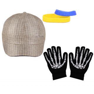 Sushito Neo Rock Cap  Wrist Band Combo Hand Gloves JSMFHCP0934-JSMFHHG0037
