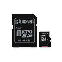 Kingston 32 GB MicroSDHC Class 10 80 MB/s Memory Card with Adaptor