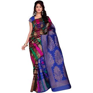 Sareemall Multicolor Banarasi Silk  Saree KMK1024
