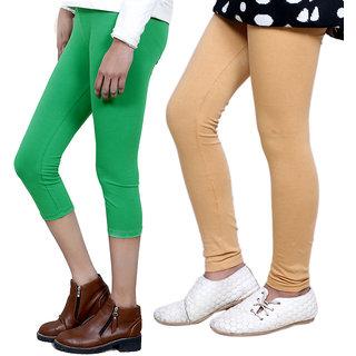 IndiWeaves Girls Cotton Legging with Cotton Capri Set of-13 7180171401-IW