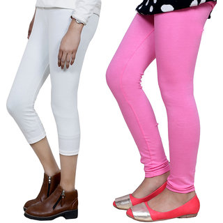 IndiWeaves Girls Cotton Legging with Cotton Capri Set of-103 7180271408-IW