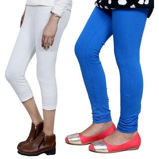 IndiWeaves Girls Cotton Legging with Cotton Capri Set of-109 7180271409-IW