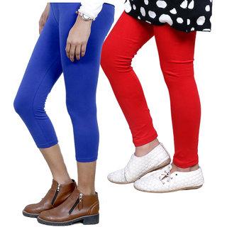 IndiWeaves Girls Cotton Legging with Cotton Capri Set of-241 7180671404-IW