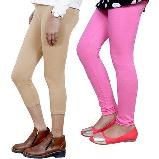 IndiWeaves Girls Cotton Legging with Cotton Capri Set of-319 7180771408-IW