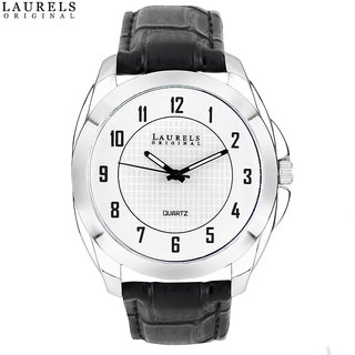 Laurels Diplomat Analog Silver Matt Dial Mens Watch - Lo-Dip-102