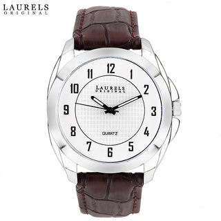Laurels Diplomat Analog Silver Matt Dial Mens Watch - Lo-Dip-101