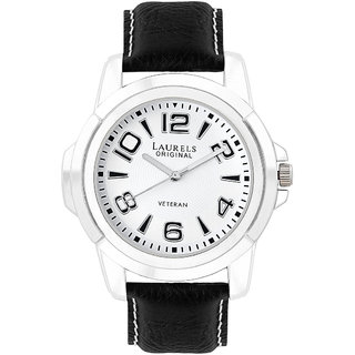 Laurels Color Analog White Dial Mens Watch - Lo-Color-201
