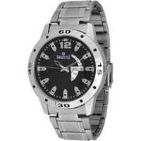 Swisstyle Black Dial Metal Chain Watch With Working Day And Date Machine SS-GR1181-BLK-CH