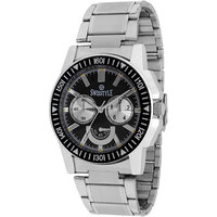 Swisstyle Black Dial Metal Chain Watch  SS-GR1221-BLK-CH
