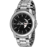 Swisstyle Black Dial Metal Chain Watch With Working Day And Date Machine SS-GR1011-BLK-CH