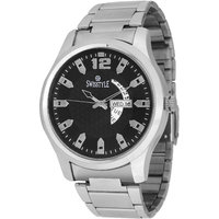 Swisstyle Black Dial Metal Chain Watch With Working Day And Date Machine SS-GR1180-BLK-CH