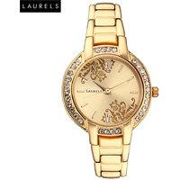 Laurels Mystic Analog Golden Dial Womens Watch - LL-Mst-102