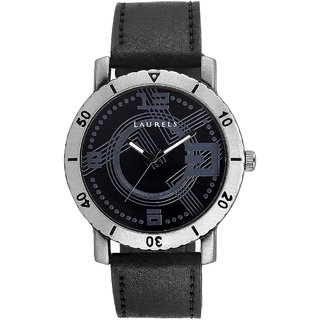 Laurels Furious Analog Black Dial Mens Watch - Lo-Frs-0202