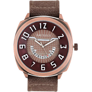 Laurels Hugo Analog Brown Dial Mens Watch - Lo-Hg-105