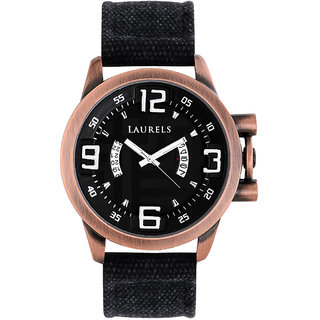 Laurels Europha Analog Black Dial Mens Watch - Lo-Eu-202