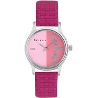 Laurels Orchid Analog White Dial Womens Watch - Lo-Orc-104