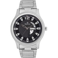 Swisstyle Black Dial Metal Chain Watch With Working Day And Date Machine SS-GR8055-BLK-CH
