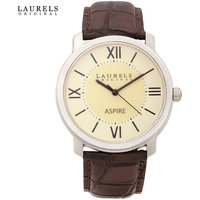 Laurels Aspire 1 Analog Beige Dial Mens Watch - Lo-Asp-101
