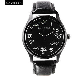 Laurels Geek Analog Black Dial Womens Watch - LL-Geek-1