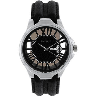 Laurels Invictus 5 Analog Black Dial Mens Watch - Lo-Inc-502