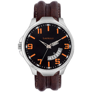 Laurels Outlander Analog Black Dial Mens Watch - Lo-Otr-0209