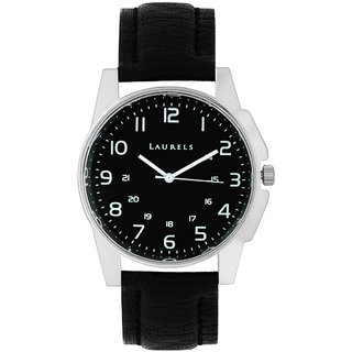 Laurels Hamilton Analog Black Dial Mens Watch - LL-Hm-0202