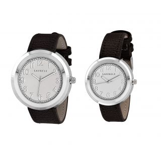 Laurels Gio Analog White Dial Couples Watch - LL-Gio-0109C