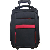 Caris Black  Red Havy double shall Trolley Bag