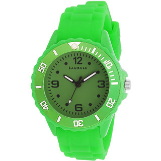 Laurels Ice Analog Light Green Dial Mens Watch - Lo-IC-0404L