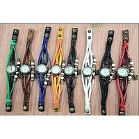 New Nded Green Leather Strap Watch Hand-knitted Leather Watch Women' Watches